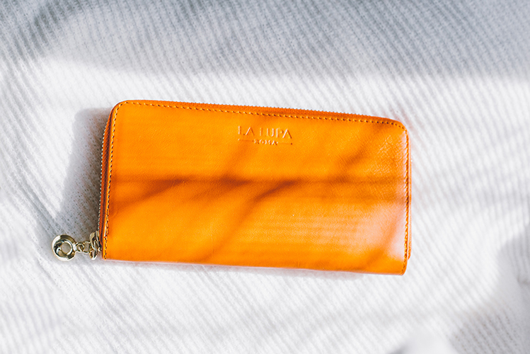Lalupa Wallet in Orange